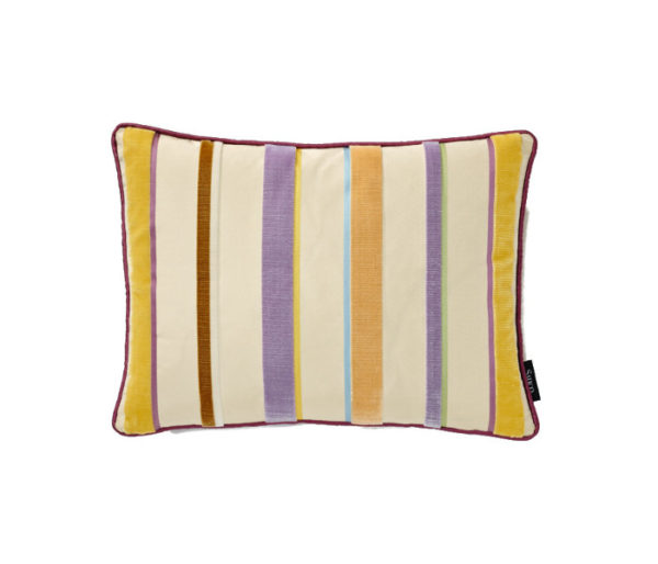 coussin rayures velours