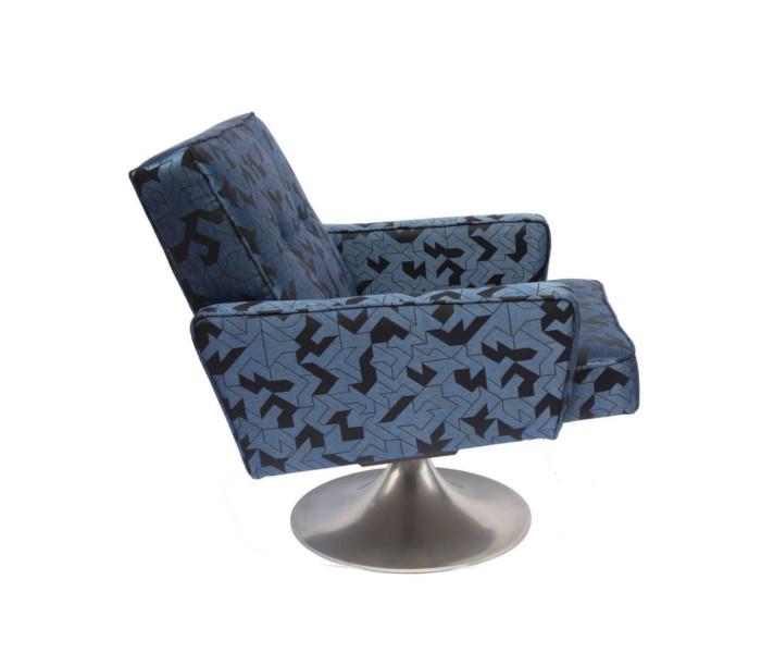 fauteuil recouvert du tissu origami