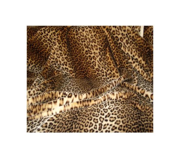 fausse fourrure léopard