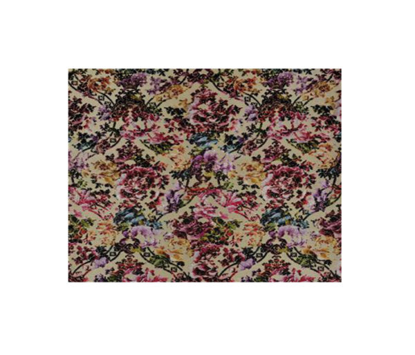 tissu jacquard motif fleurs