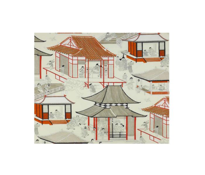 Coton imprimé de motifs Japonisant