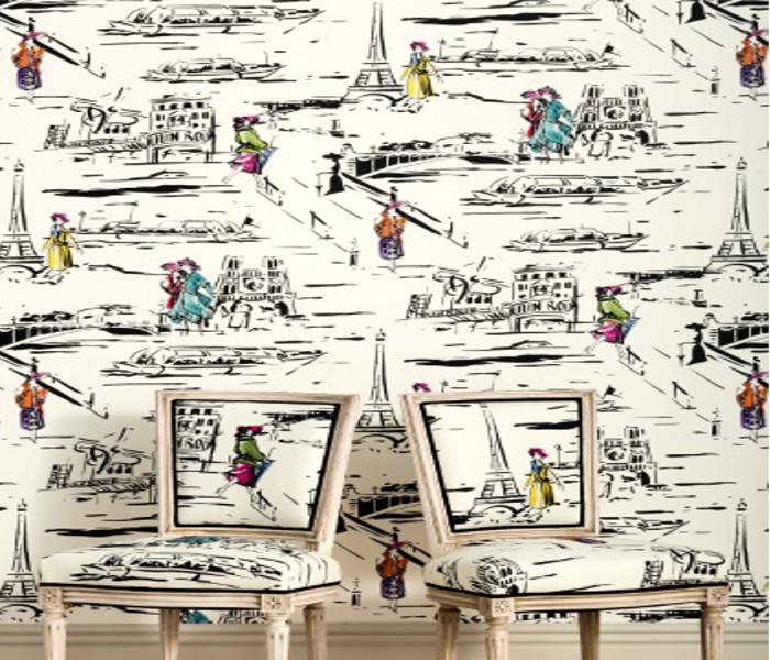 Coton imprimé de rues de Paris