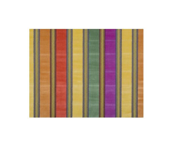 velours à bandes multicolores