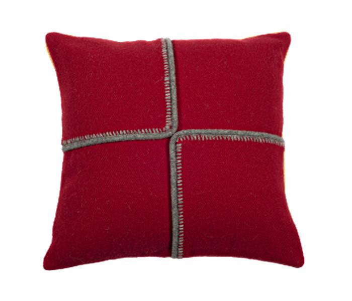 Coussin déco en laine