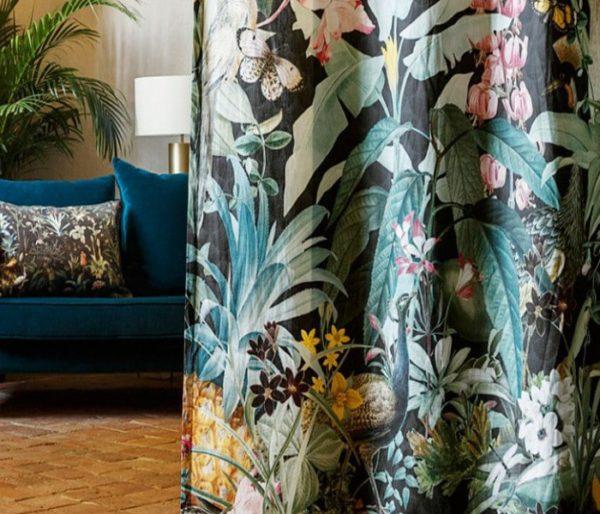 rideaux imprimé de grands motifs