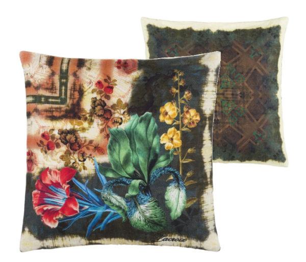 Coussin décoratif imprimé de fleurs