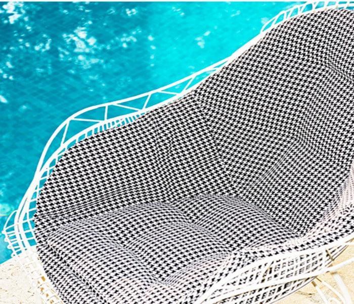Tissu outdoor au motif pied de poule