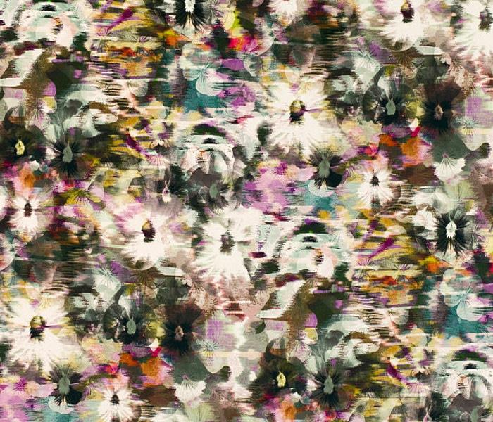 Velours imprimé de fleurs