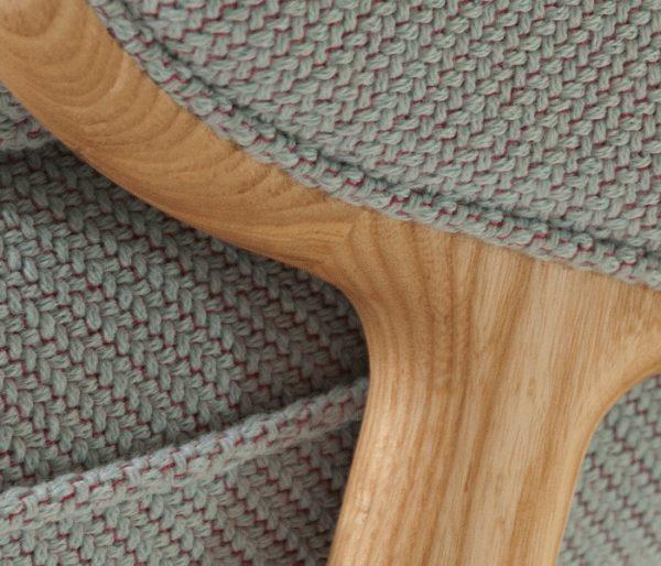 Maille bicolore pour le siège