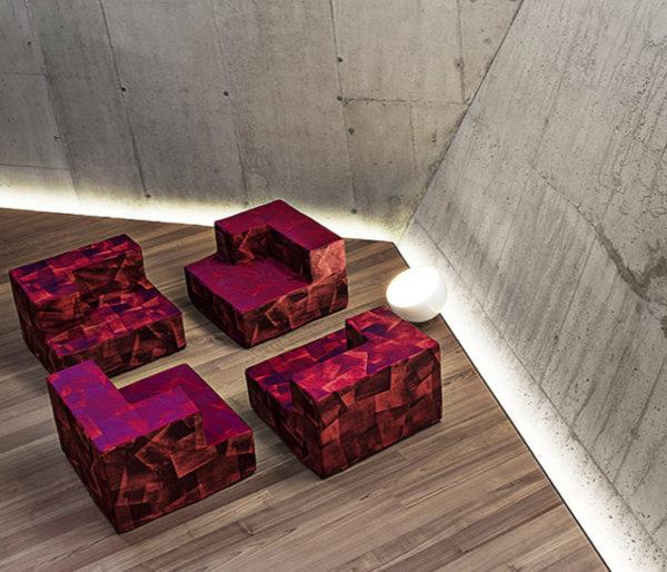 Tissu siège contemporain