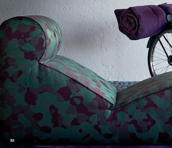 Tissu imprimé dun dessin camouflage des armées