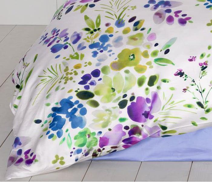 Tissu imprimé de fleurs champêtre