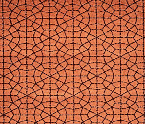 Velours imprimé d'un motif géométrique