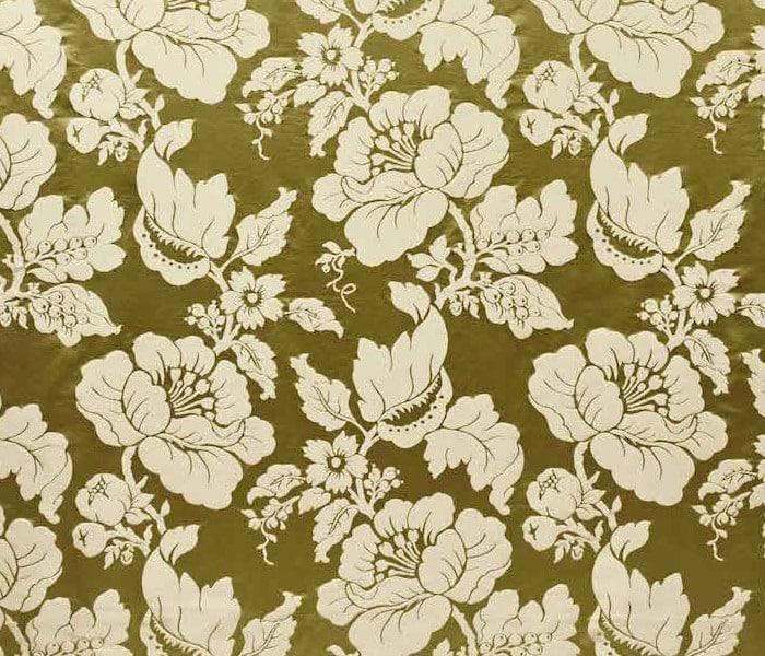 Tissu soyeux tissé de fleurs
