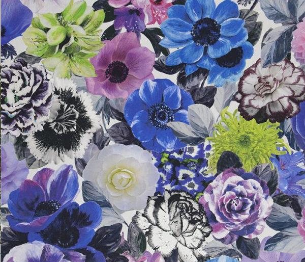 Tissu imprimé de bouquets de fleurs