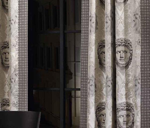 Rideaux imprimé de figures Grecs