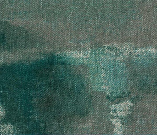 Lin imprimé d'un dégradé orageux