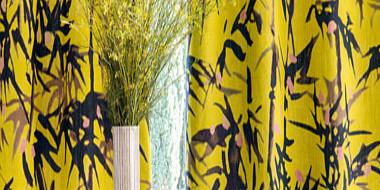 Lin imprimé de branches de bambous