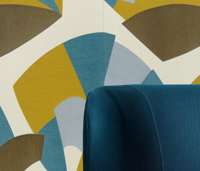 Tissu imprimé de motifs futuriste