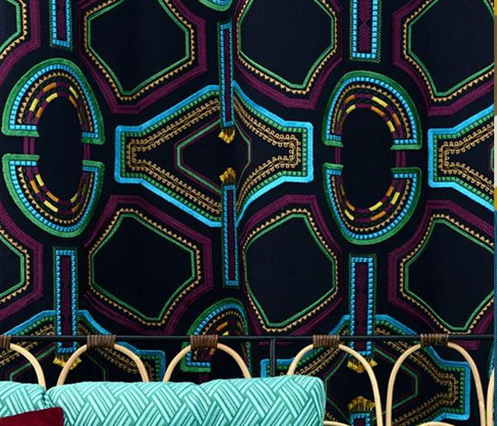 Lin brodé de motifs Africain