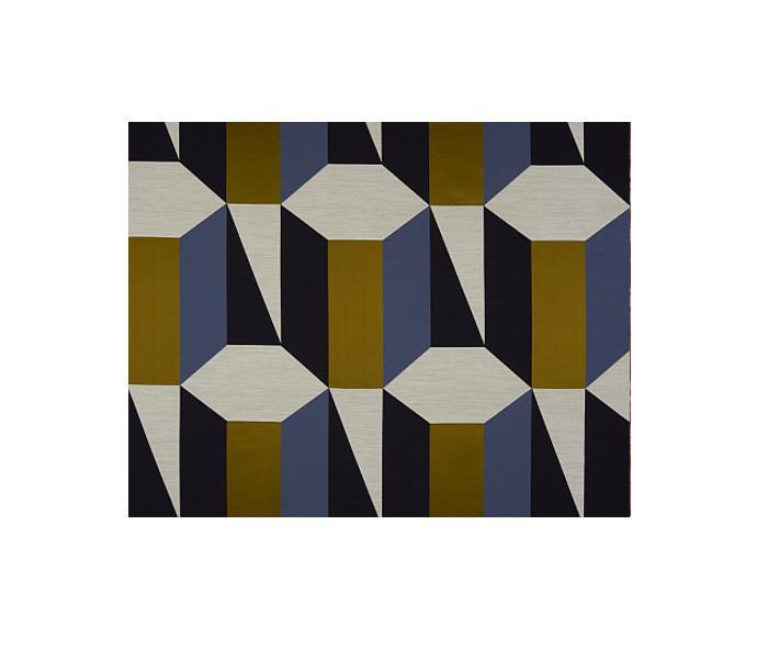 Tissu imprimé de motifs cubique
