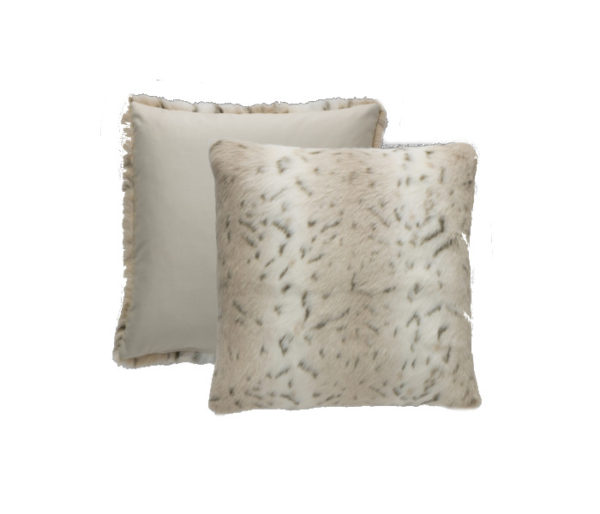 Coussin fausse fourrure blanche