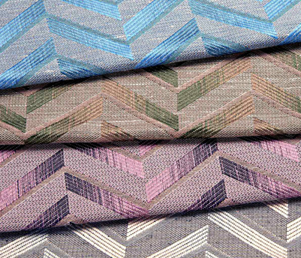 Jacquard aux chevrons contemporains