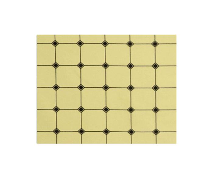 Velours de coton faux-uni imprimé d'un motif zen