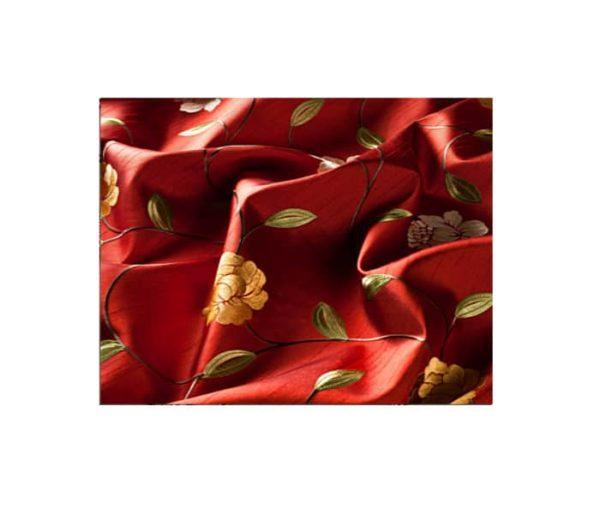 Satin imprimé de petites fleurs des champs