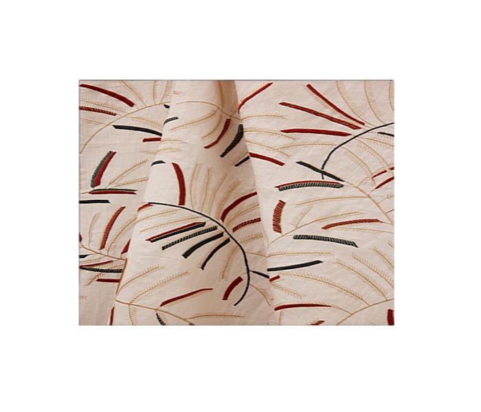 Toile de lin brodée de branches de Mimosa