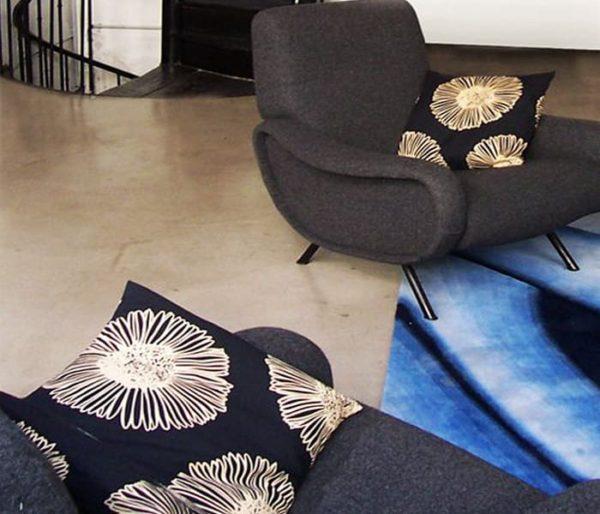 Coussins habillés de tissu Marguerite