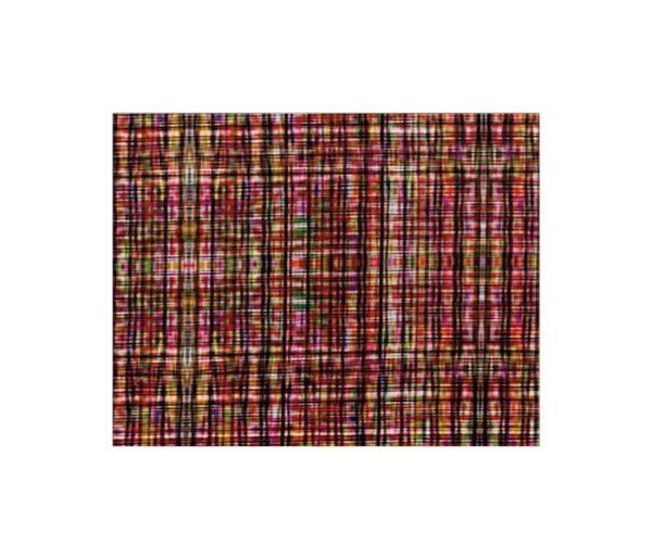 Velours imprimé de carreaux multicolores