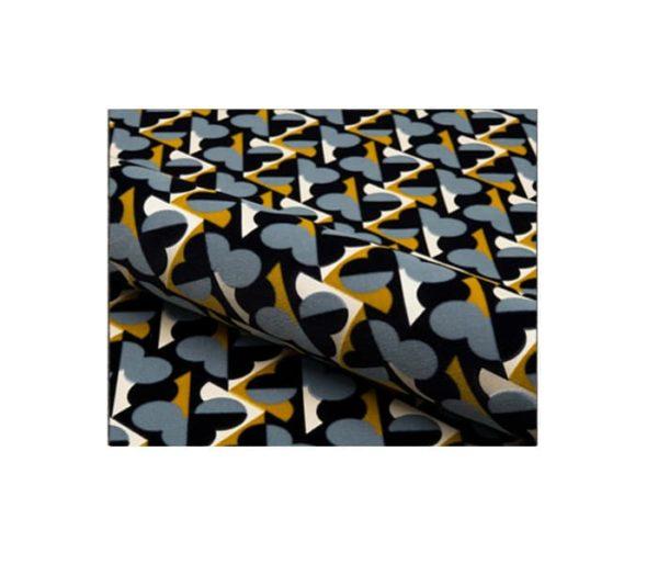 Velours motif géométrique