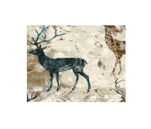 Tissu rideaux imprimé de cerf