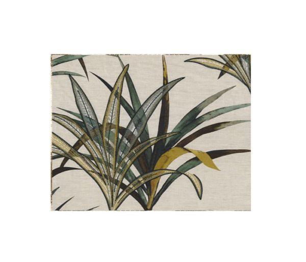 Tissu brodé de palmes