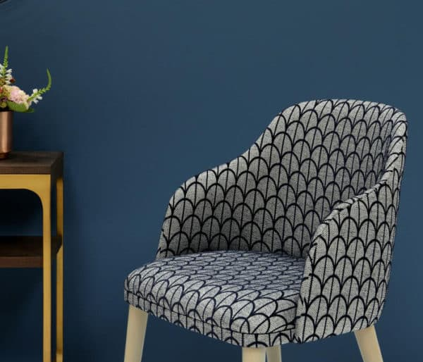 tissu sièges effet plumes