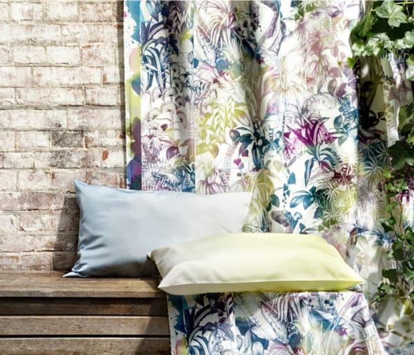 rideau floral fibres rrecyclées