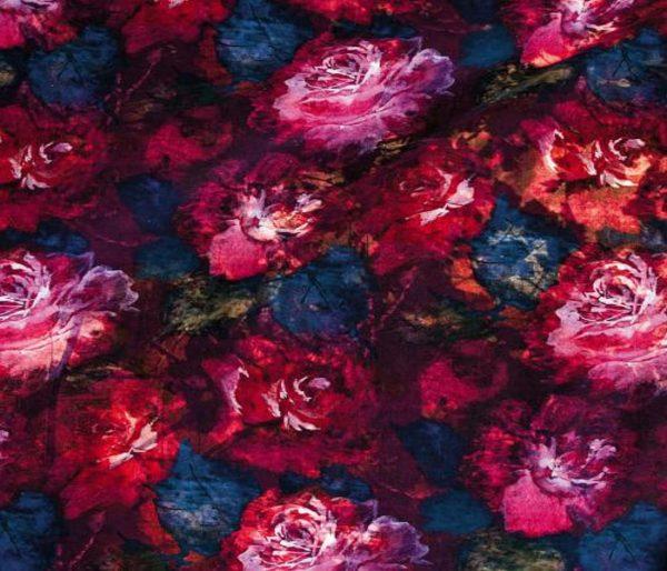 riche tissu pour siège avec motifs floraux