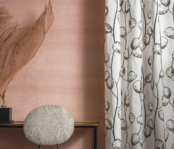 tissu pour rideaux ambiance floral