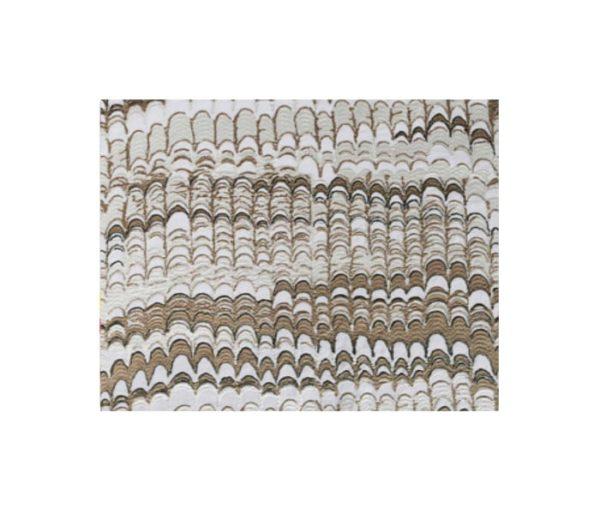 tissu velours effet paon