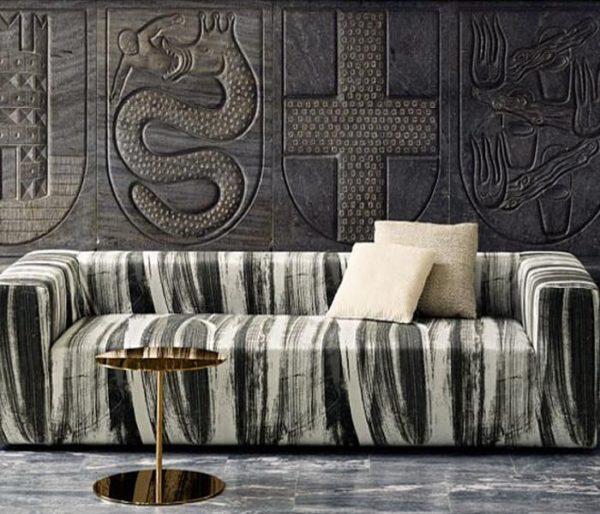tissu contemporain pour canapé
