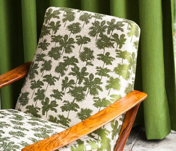 tissu jacquard avec motif de palmeraie