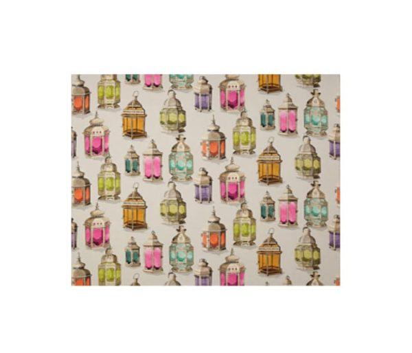 tissu imprimé de lampes marocaines colorées