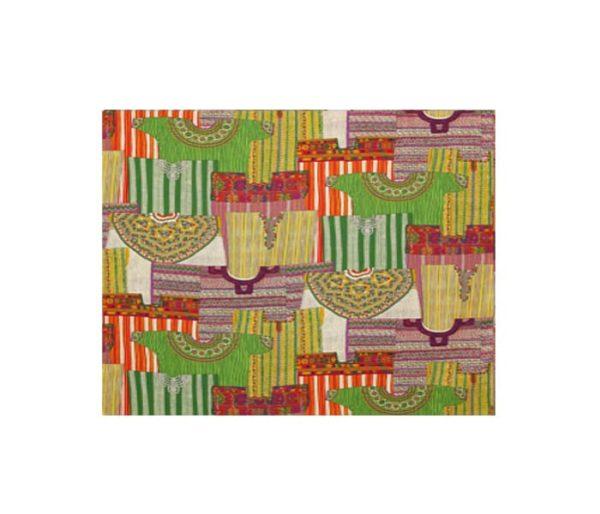 tissu imprimé de larges motifs ethniques
