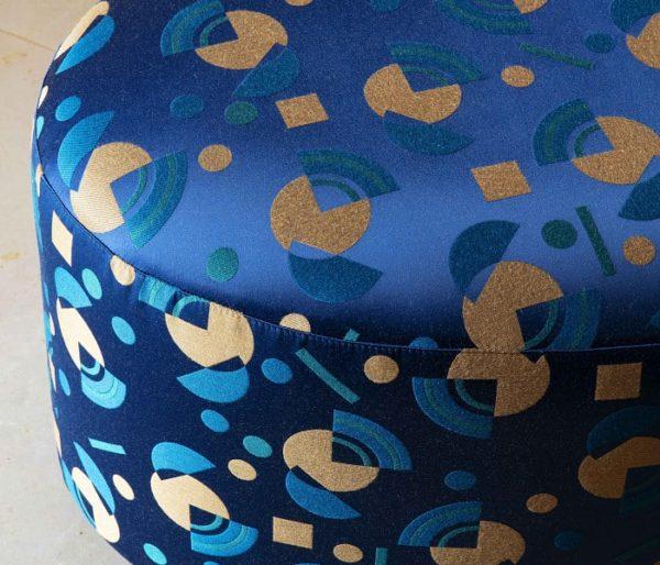 tissu d'ameublement motifs disques et brisures façon art déco
