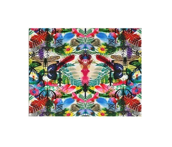 tissu d'ameublement imprimé de motifs exhubérants