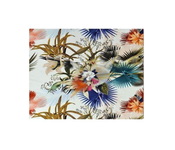 Tissu imprimé de larges motifs floraux