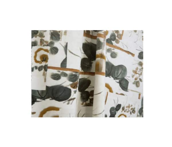 coton imprimé de fleurs