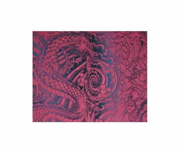 coton imprimé de dragons