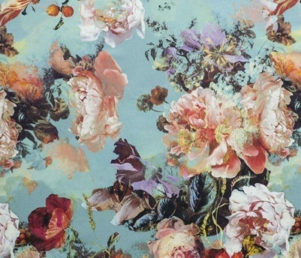 rideau pret à poser avec des motifs floraux